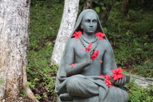 Adi Shankara statue in Nrusimha Vanam.