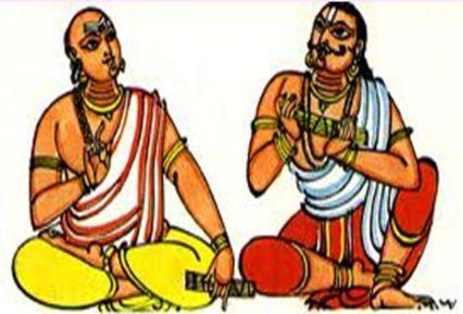 Allasani Peddana with Krishna Deva Raya