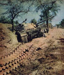 Destroyed Patton Tanks