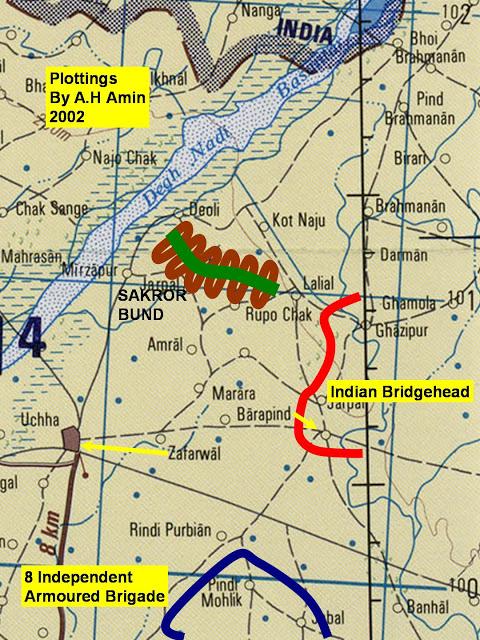 Image result for battle of basantar map